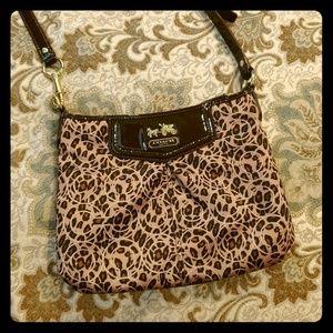 Coach Leopard Cross Body Purse Bag